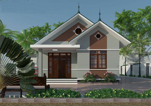 Nhà mái ngói thiết kế đơn giản tiết kiệm chi phí