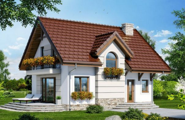 Nhà mái ngói mang phong cách Châu Âu