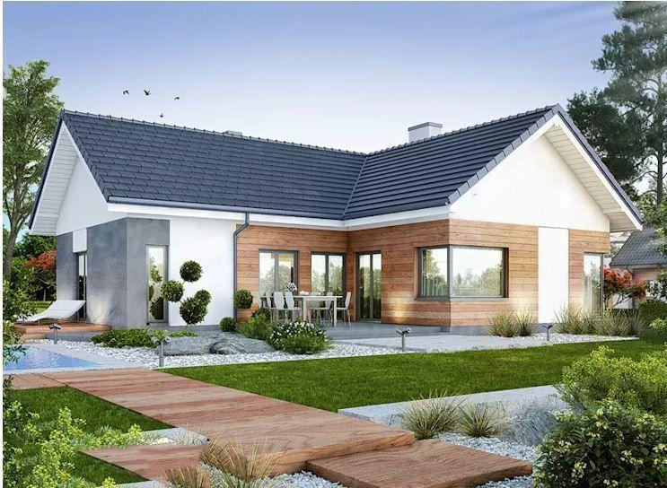 Những gia đình có diện tích rộng có thể thiết kế xây dựng nhà vườn để có không gian thư giãn